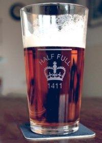 A half pint of beer