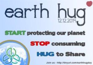Earth hug day 12 December 2014