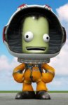 A Kerbal from the Kerbal Space Program