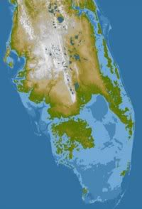 NASA image of Southern Florida with sea level increase of ~10m