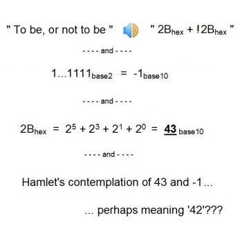 Hamlet's contemplation: 42?