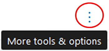 More tools & options button