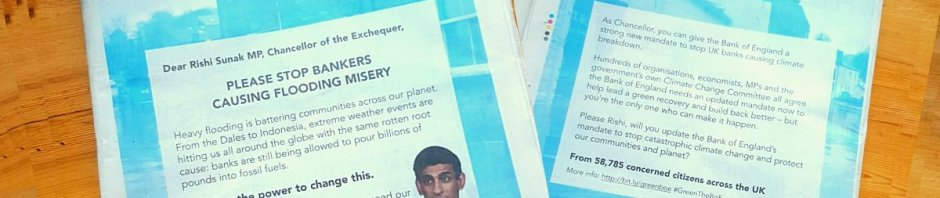 Local paper advert urging Rishi Sunak to do the right thing