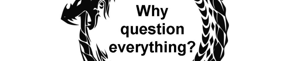 Why question everything? (an oroboros, a snake eating its own tail)