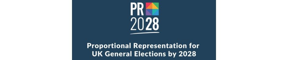 PR2028 - Proportional Representation for UK General Elections by 2028, campaign logo