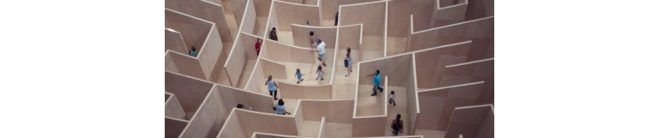 People wandering in a maze, by Susan Q Yin