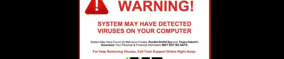 WARNING! (from a typical scammer pop-up)