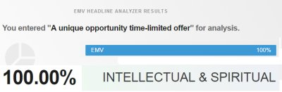 The Advanced Marketing Institute's '100.00%' assessment of 'A unique opportunity (time-limited offer!)'