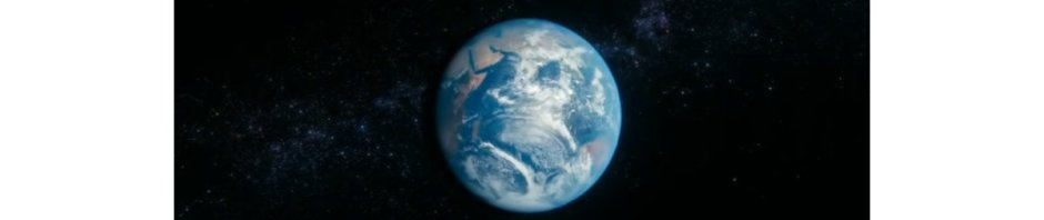 Earth; a pale blue dot suspended in a sunbeam